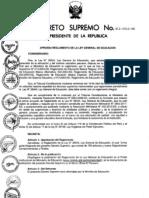 ds 011-2012 Reglamento General de Educación Perú