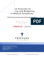 Best Practices for Planning and Budgeting in Midsize Companies