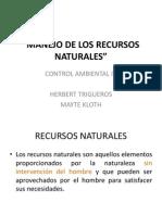 Manejo de Los Recursos Naturales