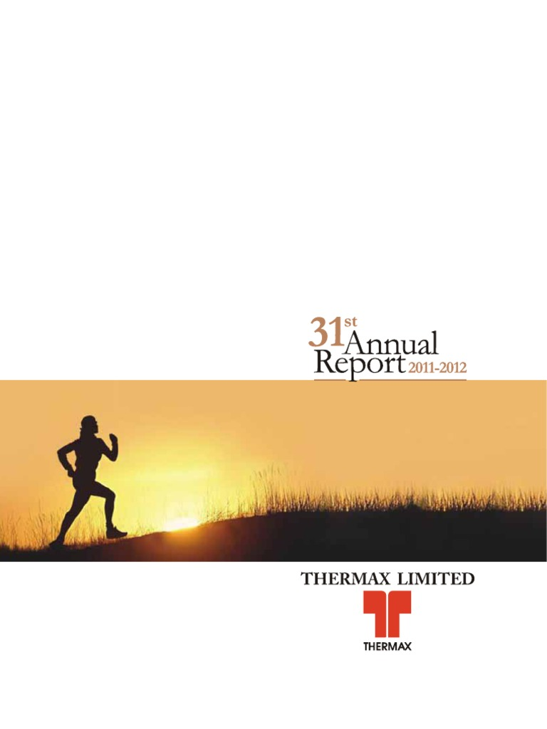 Thermax Annual Report 2011 12 | Solar Energy | Financial Statement