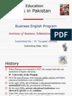 Litracy Progress in Pak IBA-2012