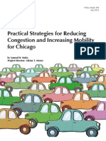 Chicago Transportation Plan - Practical Strategies for Reducing Congestion and Increasing Mobility for Chicago
