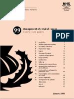 Sign99 - Management of Cervical Cancer