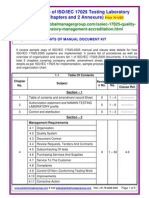 ISO/IEC 17025 Quality Manual