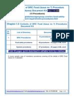 BRC Food issue 7  Procedures