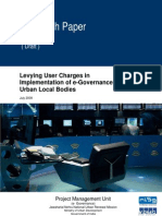 Approach Paper on E-Governance User Charges