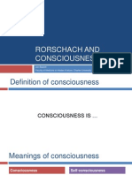 Rorschach and Consciousness