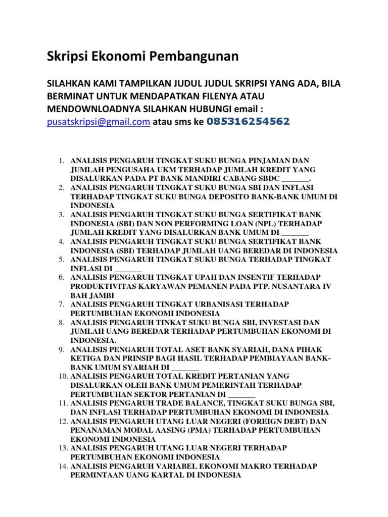 judul skripsi ekonomi islam kualitatif