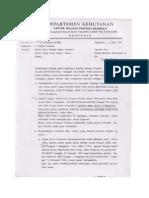 1991-7-15 Mohon Izin Pinjam Pakai CADDB (Dihut Ke Menhut)