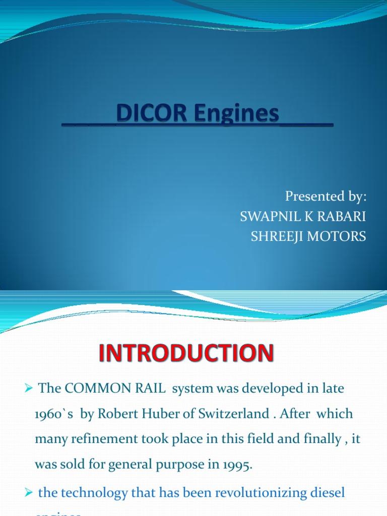 Dicor Chambr dicor | internal combustion engine | diesel engine