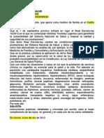 Solicitud de instrucciones a la gerencia de salud sobre aplicación del RD 16-2012 de recortes en sanidad