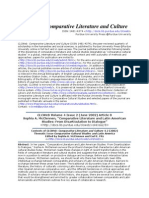 Comparative Literature and Latin American Studies- From Disarticu