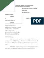 Jorge a. Cerron v Gmac Mortgage, LLC 7-18-2012