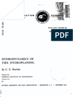 Hydrodynamics of Tire Hydroplaning