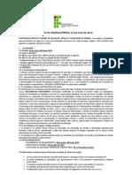 Vestibular Aracaju Lagarto e So Cristovo - Edital 38 2012 2