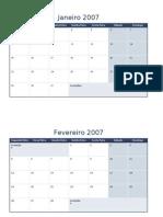 Calendário de 2007
