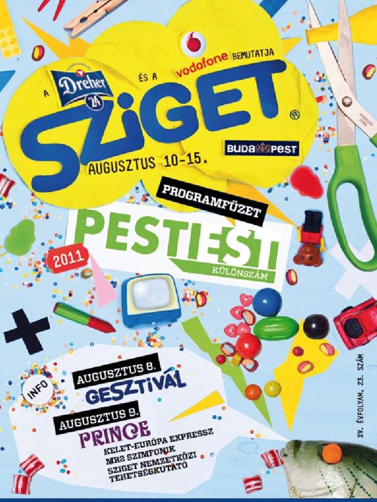 Sziget Programfüzet 2011 611b3a8507