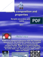Water's composition and properties