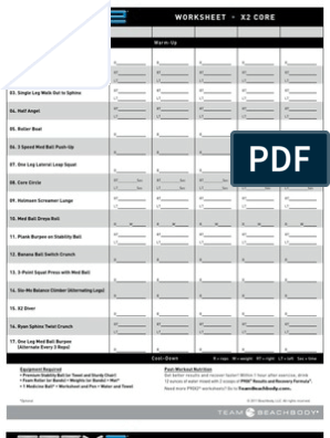 P90X2 Worksheets[1] | Management Of Obesity | Physical Exercise