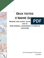 Deux textes d'André Gorz - Two textes of André Gorz
