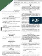 Lei n.º 14-VII-12 de 11-JUL - RJ Agências Reguladoras Independentes