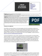 Crear Bosque en Blender.español
