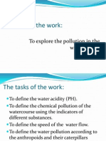 Research Work on water pollution