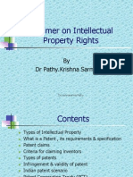 IPR - A Primer on Intellectual Property Rights-Dr KrishnasarmaPathy