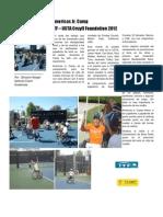 Campo de entrenamiento de Tenis en silla de ruedas para jugadores Junior por Giovanni Rangel