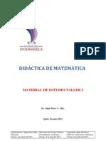 Material de Estudio Taller 3 DIDACTICA de MATEMATICA