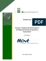 PRISMA Hunt Oil.Evaluación Final Salud Integral_2008_2011