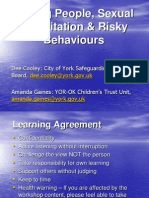 Young People Sexual Exploitation and Risky Behaviours Workshop