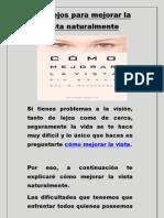 Consejos para mejorar la vista naturalmente