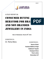 A study on the consumer buying behaviour of branded and non-branded jewellery in India
