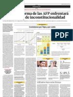 La Ley de reforma de las AFPenfrentará tres acciones de inconstitucionalidad