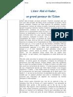 Abd el Kader et la Franc Maçonnerie. Etienne Bruno