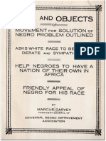 UNIA Aims and Objects by Marcus Garvey
