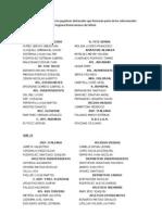 Lista Seleccion de La Liga