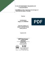 Bharani Internship Report