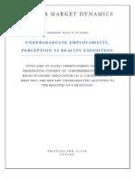 Undegraduate Employability,Perception vs Reality Exposition