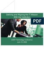 Defining and Aligning the IT Mission