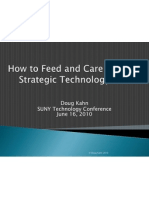 How to Feed and Care for Your Strategic Technology Plan - STC 2010