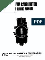 Mikuni VM Carburator