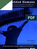 Libro x Encuentro Sociedad de Ciencias Cognitivas de la Música