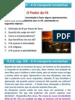 A fé transporta montanhas cap 19 ESE