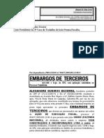 Embargos de Terceiro Alexandre Bezerra