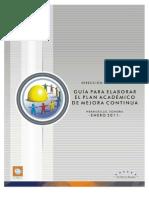 Guia Para Elaborar El Plan Academico de Mejora Continua