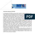 Comunicato MPA