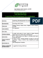 Learning Development Co-Ordinator - Final