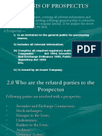 Analysis of Prospectus